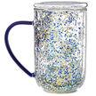 Tasse Nordic en verre à confettis Nuit étoilée