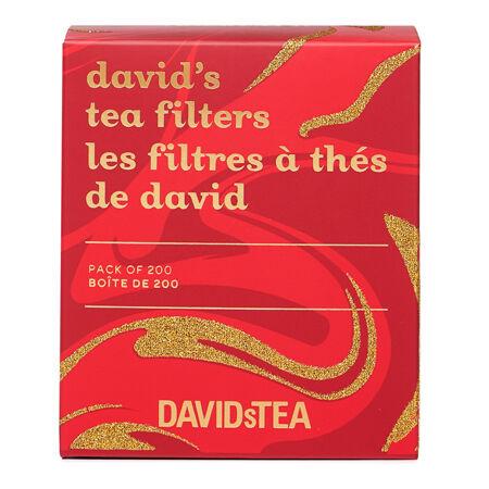 boîte de 200 filtres à thé de david à tourbillons