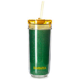 Favourite Tumbler Tritan Glitter Tropical Green