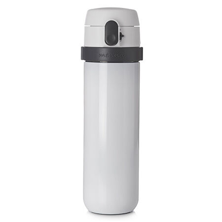 White Gloss Mennä Travel Mug