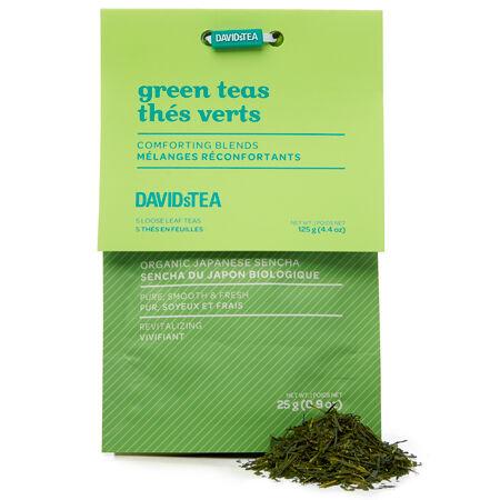 Ensemble dégustation de thés verts