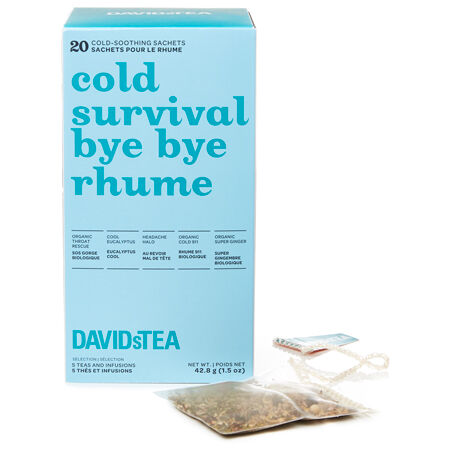Boîte de thés assortis en sachet Bye bye rhume