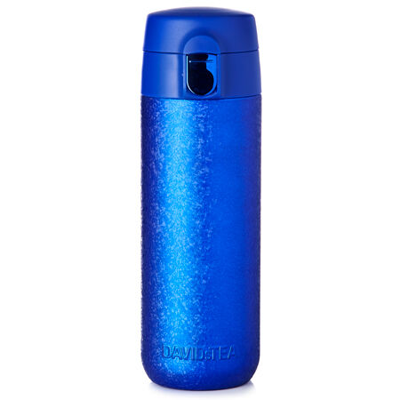 Sapphire Crackled Lock Top Travel Mug