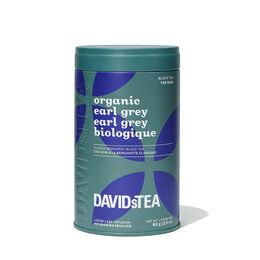 Boîte à motif de thé Earl Grey biologique