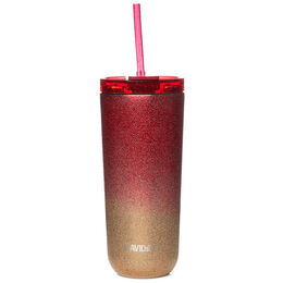 Favourite Tumbler Two Tone Glitter Red & Gold