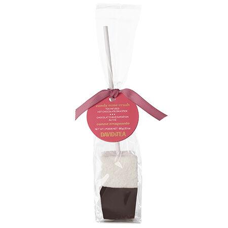 Chocolat chaud sur bâton au thé Canne craquante
