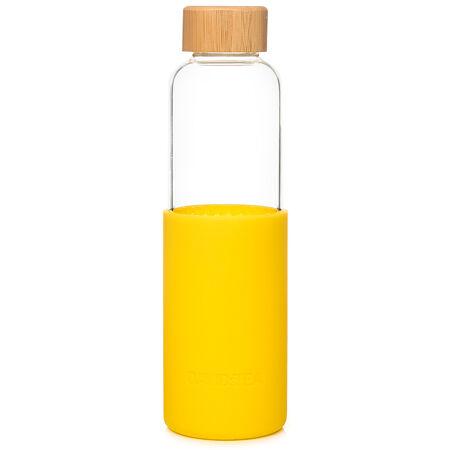 Bouteille de verre à silicone camomille