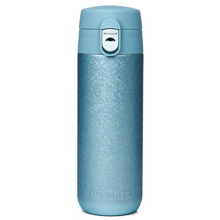 Crackled blue lock top travel mug