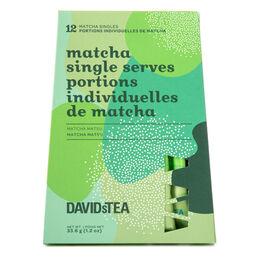 Portions individuelles de Matcha Matsu