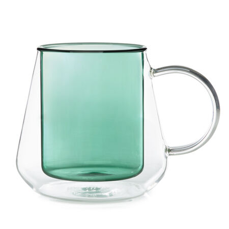 Green Double Walled Diamond Cup
