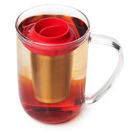 LIPPA Floating Tea Infuser Matte Gold & Red