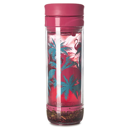 Tasse à piston pour thé glacé rose flamant