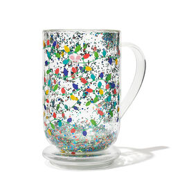 Double Walled Glass Nordic Mug Lights Confetti