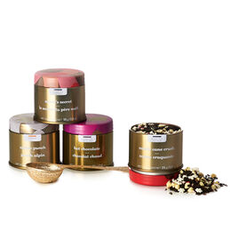 Merry & Bright Collection Mini Tin Gift Box with Spoon