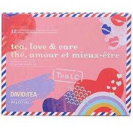 Coffret dégustation de 12thés Thé, amour et mieux-être