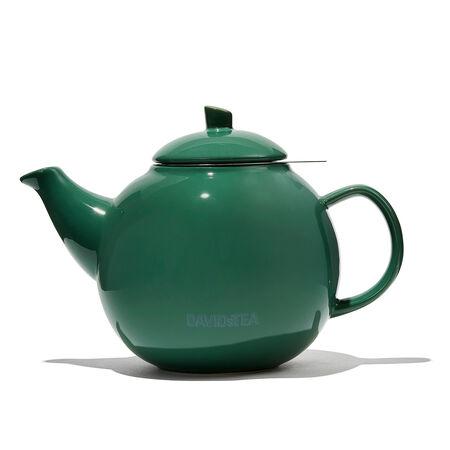 Glossy Green Bubble Teapot