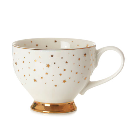 White Starry Night Bloom Teacup