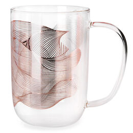 Nordic Mug Glass Metallic Rose