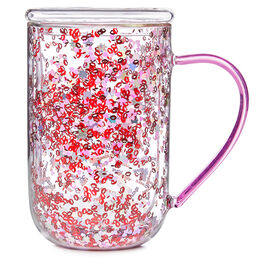 Double Walled Glass Nordic Mug Kisses Confetti