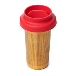 LIPPA Floating Tea Infuser Matte Gold & Red
