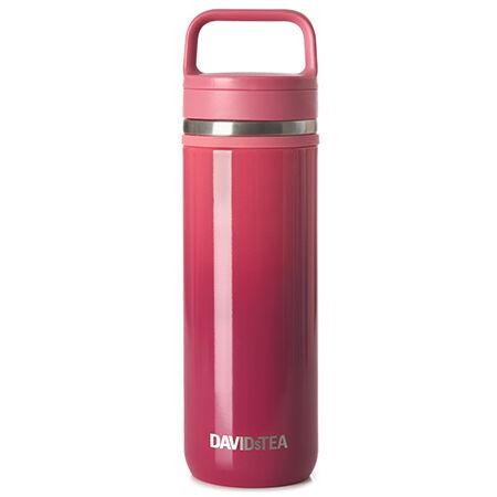 Deep Pink Gradient Carry Travel Mug