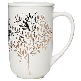 Color Changing Nordic Mug Lovebirds White & Gold