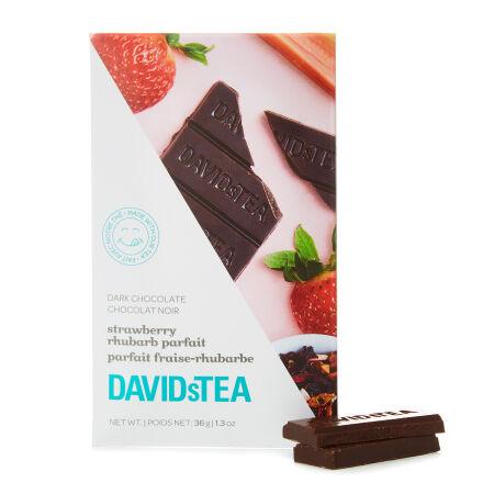 Dark Chocolate with Strawberry Rhubarb Parfait