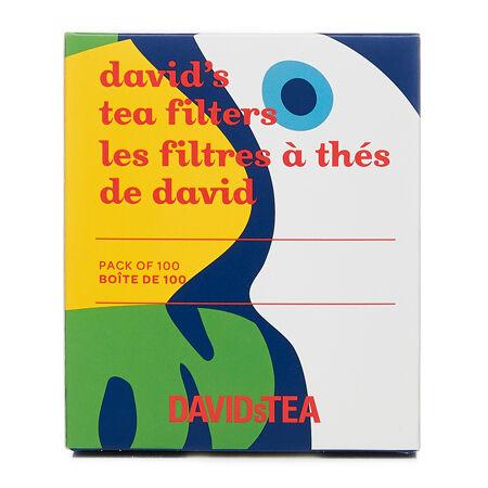 Les filtres à thé de David toucan - paquet de 100