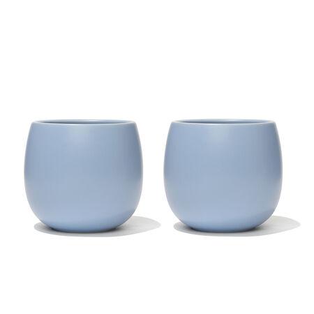 Tasse Bulle bleu poudre mat (ensemble de 2)