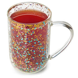 Double Walled Glass Nordic Mug Confetti 24DOT Clear