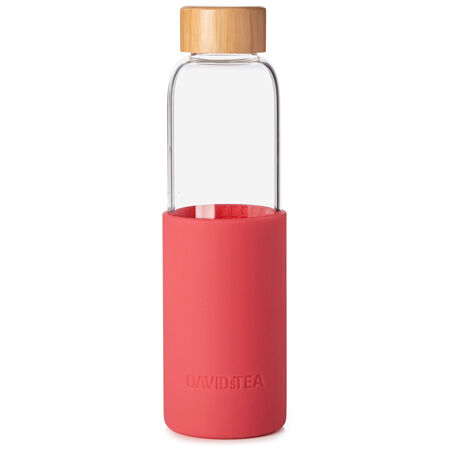 Raspberry Silicone Glass Bottle