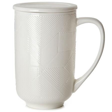 White Mosaic Textured Nordic Mug