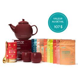 L'ensemble-cadeau de thés des fêtes suprême