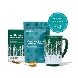 Ensemble-cadeau Tasse Nordic et thé d'hiver