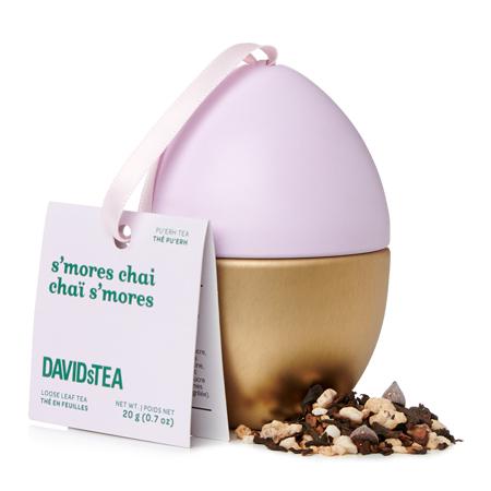 DAVIDsTEA Pu'erh Tea S'mores Chai Mini Easter Egg