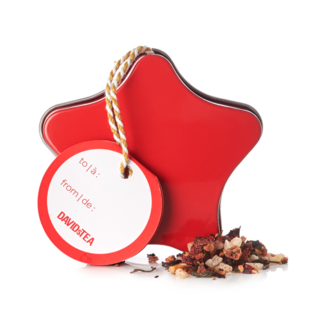 DAVIDsTEA White Tea Pomegrateful Ornament Tin