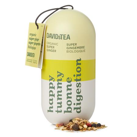 DAVIDsTEA Rooibos Tea Organic Super Ginger Digestion Aid Capsule