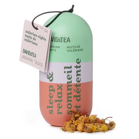 DAVIDsTEA Herbal Tea Valerian Nights Sleep & Relaxation Capsule