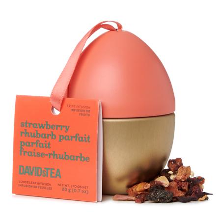 DAVIDsTEA Herbal Tea Strawberry Rhubarb Parfait Mini Easter Egg