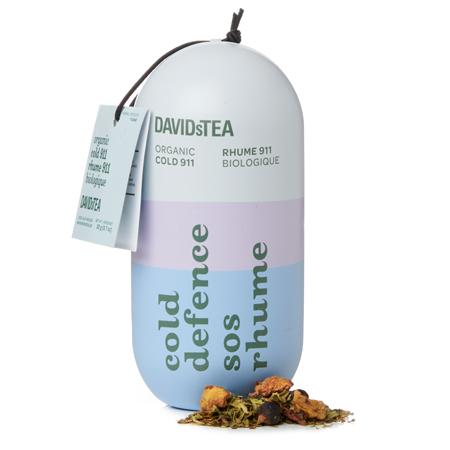 DAVIDsTEA Herbal Tea Organic Cold 911 Cold Defence Capsule