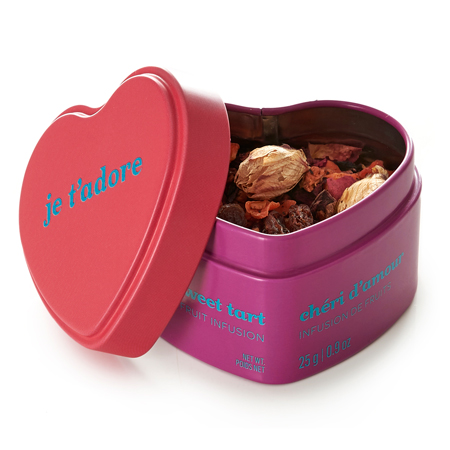 DAVIDsTEA Herbal Tea Sweet Tart Heart Shaped Tin