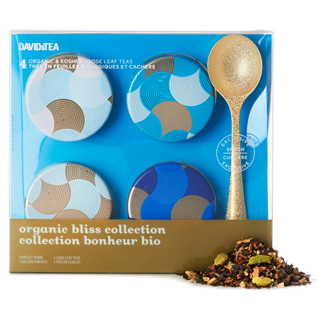 DAVIDsTEA Organic Bliss Collection Mini Tin Gift Box with Spoon
