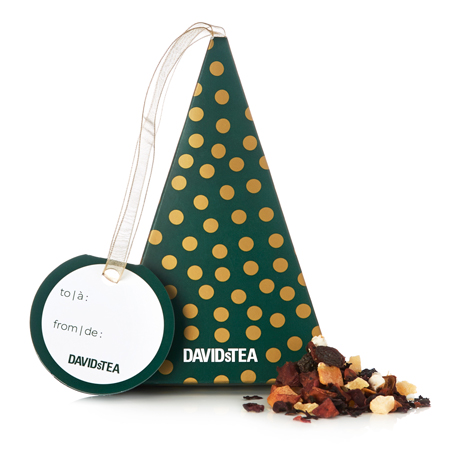 DAVIDsTEA Herbal Tea Sleigh Ride Tea-Filled Ornament Box