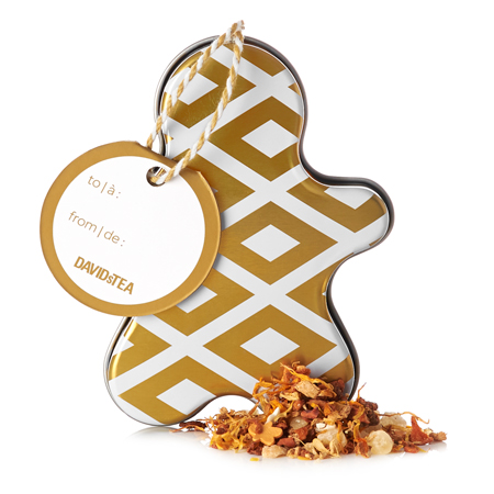 DAVIDsTEA Herbal Tea Gingerbread Blondie Ornament Tin