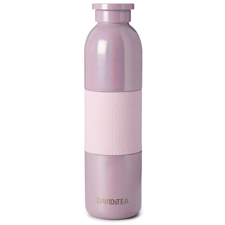 DAVIDsTEA Pink Holographic Stainless Steel Bottle
