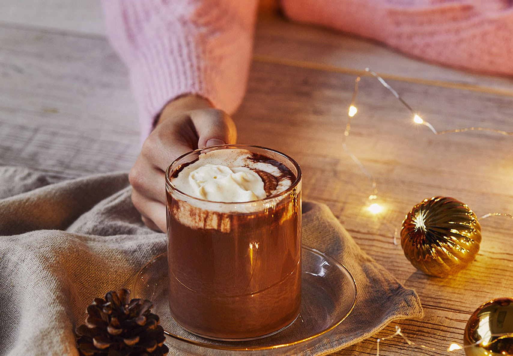 Glitter Chai Hot Chocolate
