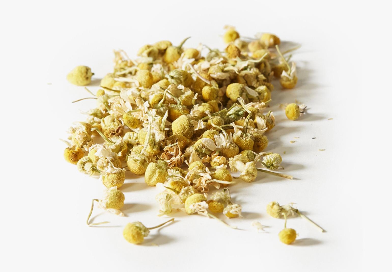: Organic Calming Chamomile tea ingredients.