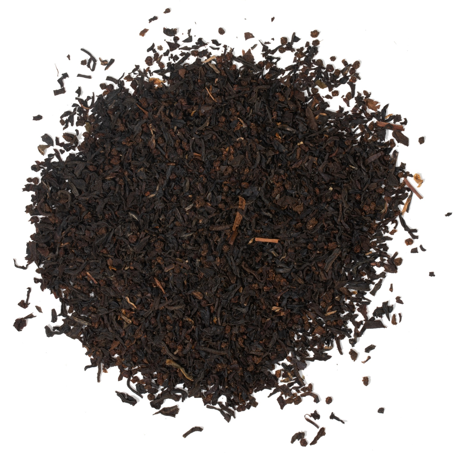 Splash of loose leaf black tea.