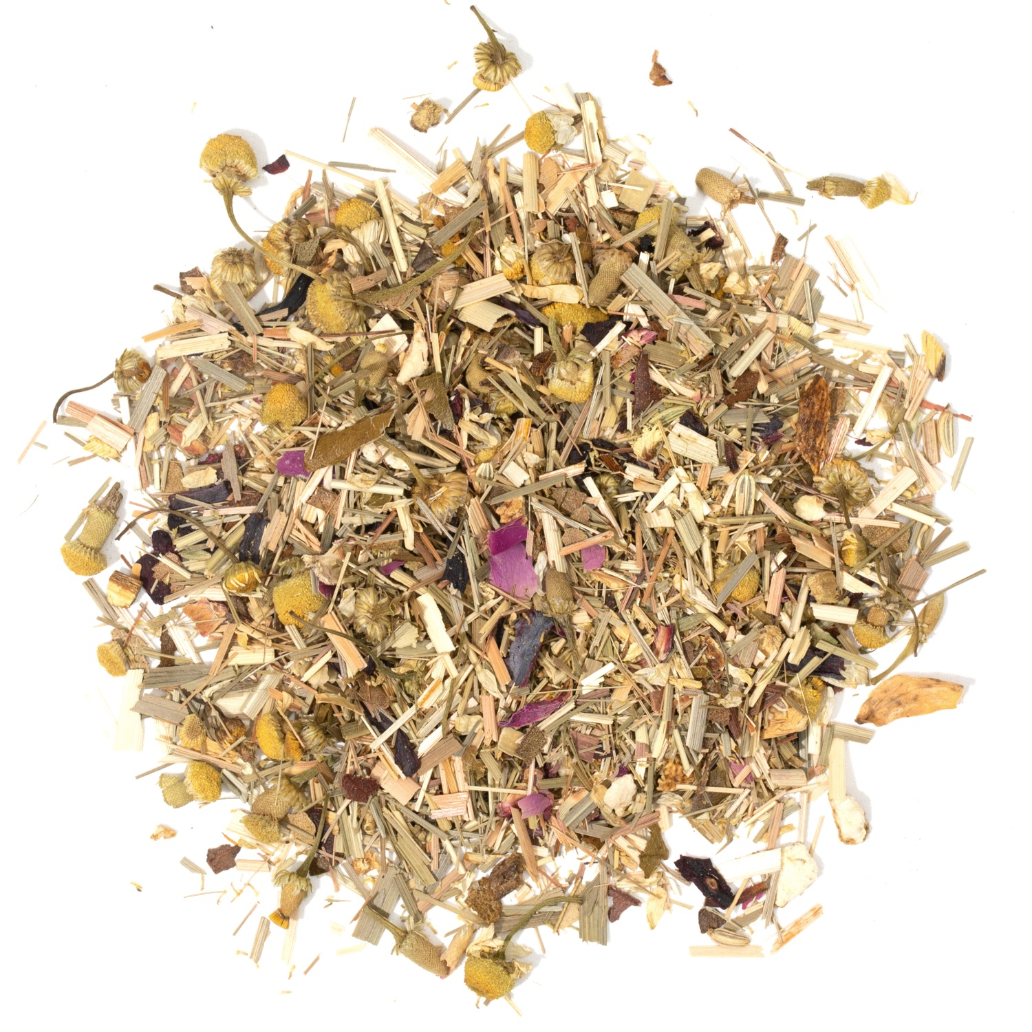 Splash of loose leaf herbal tea.