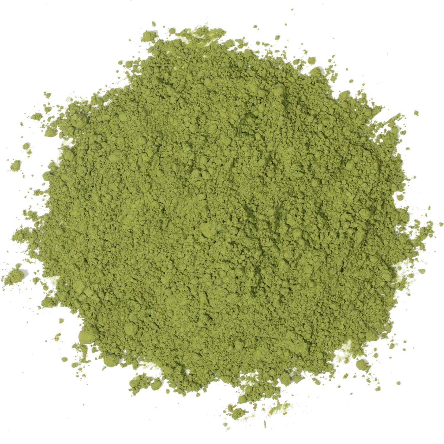 Splash of loose leaf matcha.